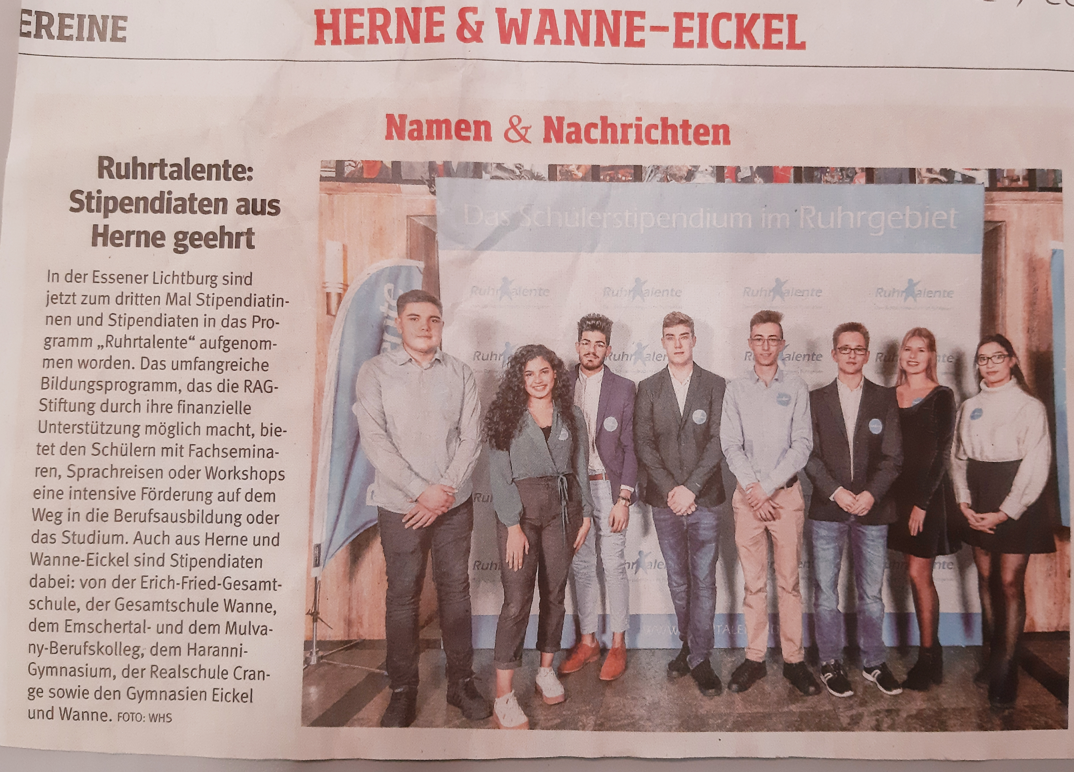 Aktuelle Nachrichten Haranni Gymnasium Herne